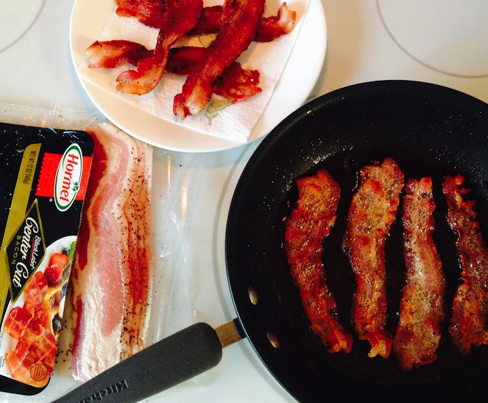 Bacon in a skillet